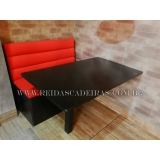 banco booth com mesa
