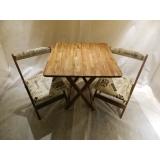 cadeira de madeira maciça estofada Vila Prudente