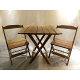 cadeira de madeira para varanda Itaim Bibi