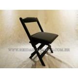 cadeira dobrável de madeira para bar