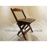cadeira dobrável de madeira para restaurante