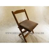 cadeira dobrável de madeira para pizzaria Água Funda