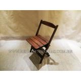 cadeira dobrável de madeira Campo Limpo