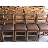 cadeira estofada madeira Tremembé