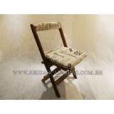 cadeira madeira maciça estofada M'Boi Mirim