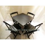 cadeira madeira preta Butantã