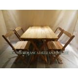 compra de mesa com 4 cadeiras de madeira Luz