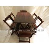 compra de mesa com seis cadeiras de madeira Zona Norte