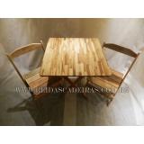 compra de mesa e cadeira de madeira Butantã