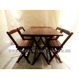 comprar mesa de madeira 4 lugares Santa Isabel