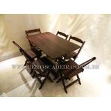 comprar mesa de madeira para 6 cadeiras Jockey Club