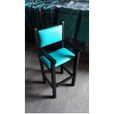 fábrica de cadeira estofada de madeira Jardim Bonfiglioli