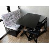 jogo de mesa dobrável com sofá Vila Curuçá
