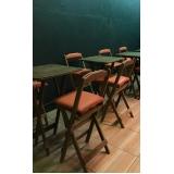 loja de cadeira de madeira estofada para cozinha Interlagos