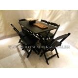 loja de cadeira madeira preta Santa Isabel