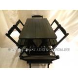 mesa 6 cadeiras madeira Perus
