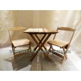 mesa com cadeira em madeira Vila Cruzeiro