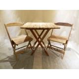 mesa com cadeira madeira