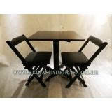 mesa com cadeira para restaurante