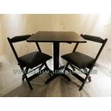 mesa com cadeira para restaurante Vila Maria