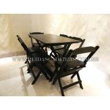 mesa de madeira 6 cadeiras Butantã