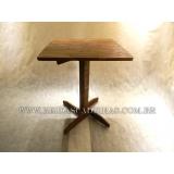 mesa de madeira para lanchonete