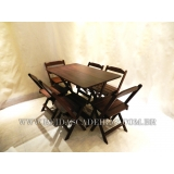 mesa de madeira para 6 cadeiras Sé