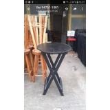mesa bistrô madeira