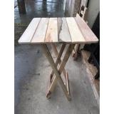 mesa bistrô quadrada