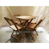 onde compro mesa dobrável com 4 cadeiras Parque São Lucas