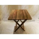 onde compro mesa dobrável de madeira Brooklin