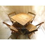 orçamento de mesa de madeira 4 cadeiras Embu das Artes