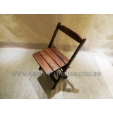 preço de cadeira dobrável infantil de madeira Santa Isabel