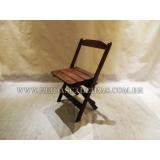 preço de cadeira dobrável madeira Santa Isabel