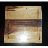 qual o valor de tábua de churrasco madeira rústica Sacomã