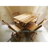 quanto custa mesa dobrável com 4 cadeiras Vila Medeiros