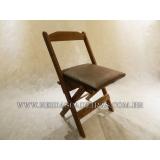 valor de cadeira dobrável de madeira para pizzaria Engenheiro Goulart