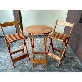 venda de mesa bistrô alta madeira Vila Sônia