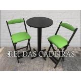 venda de mesa bistrô com cadeiras Vila Romana