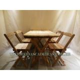 venda de mesa com 4 cadeiras madeira Jaçanã