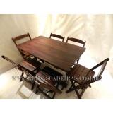 venda de mesa com 6 cadeira de madeira Pinheiros