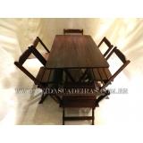 venda de mesa com seis cadeiras de madeira Parelheiros